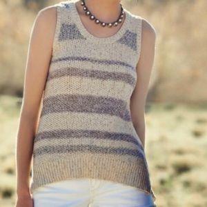 Anthropologie Sparrow striped sleeveless sweater M